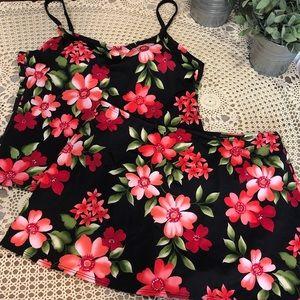 Athena 2Piece Tankini Floral Swimsuit